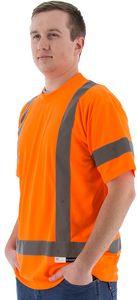 Custom High Visibility Orange Short Sleeve Shirt, ANSI 3, Type R