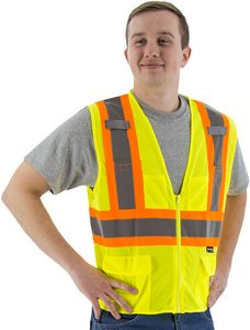 Custom High Visibility Mesh Vest With Dot Striping, Ansi 2, R