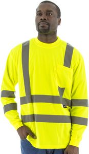 Custom High Visibility Yellow Long Sleeve Shirt, ANSI 3, Type R