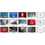 Custom Christmas cards selection, 4-color process-1Side