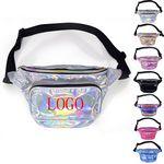Custom Neon Vinyl Holographic Fanny Pack Belt Waist Bum Bag Laser Travel Beach Purse