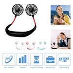 Custom Rechargeable USB Hanging Neck Fan For Travel Reading Sports