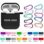 Custom Ultra-Thin Silicone Wireless Earphones Case With Carabiner