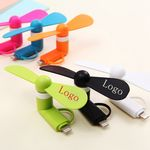 Custom 2-in-1 Mini Cell Phone Fan for iPhone/iPad and Android Phones- Best Price