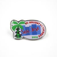 """1 1/2"""" Custom Shaped Full Color Offset Printed Pins with Epoxy Dome"""