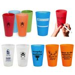 Custom Silicone Wine Glasses Silicone Pint Glass Unbreakable Wine Cup Drinkware 16 oz