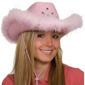 100e19b56f4 Felt Cowboy Hat w  Light Up Tiara   Boa Trim - A22526 - IdeaStage  Promotional Products