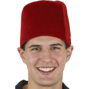 140a8e1f Red Velvet Fez Hat - A20503 - IdeaStage Promotional Products