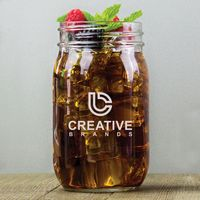 16 Oz. Mason Jar w/Screen Printed Logo