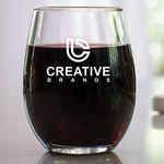 9 Oz. Stemless Wine Glass w/Screen Printed Logo
