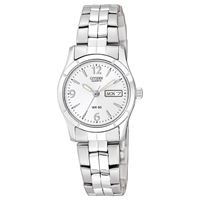 Custom Citizen Ladies' Quartz Watch, Stainless Steel Bracelet with White Dial