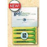 Custom Headcard Golf Tee Poly Bag Pack w/ Four 2 3/4