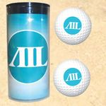 4-Color Image Insert Golf Ball Tube w/ 2 Wilson