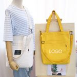 12OZ Cotton Canvas Crossbody Shoulder Bag for women 420D Nylon Gym bag with Drawstring