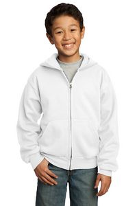Custom Port & Company Youth Full Zip Hoodie