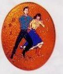 Custom Square Dancer Cloisonne Medallion Bolo Tie