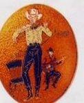 Custom Fiddler Cloisonne Medallion Bolo Tie