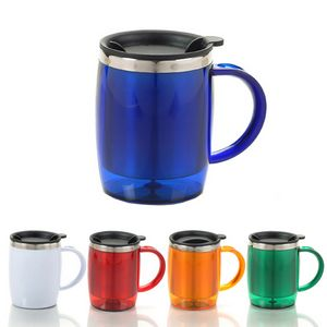 Translucent Travel Mug with C Handle-15.21 oz