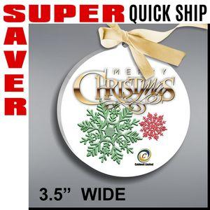 Round Super Saver Quick Ship Ornament - Color Printed