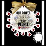 Custom Coronavirus Ornament in White Acrylic - Color Printed