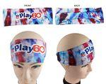 Performance Headband, Full Color, Polyester Spandex