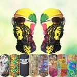 Custom Sublimated Seamless Neck Gaiter, Neck Buff, Neck Tube, Face Shield
