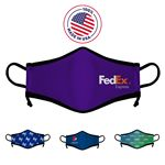 Adjustable Face Mask, Sublimated Antimicrobial Surgical Style PPE MADE IN USA