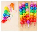 7 in 1 Rainbow Crayon With Funny Faces