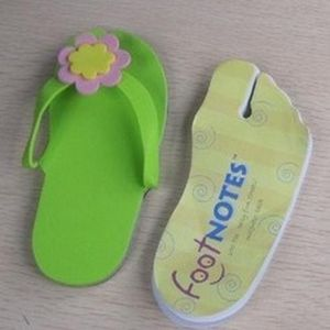 Custom Printed Shaped Flip Flop Sandal Notepads!