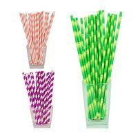 Custom Biodegradable Imprint Paper Drinking Straw Diameter 8MM