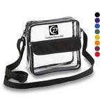 Custom Clear Cross-Body Messenger Shoulder Bag