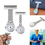 Custom Portable Paramedic Nurse Brooch Pocket Watch Clip-on Hanging Watch