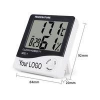 Indoor Digital C/F Thermometer Hygrometer Temperature Humidity Meter Clock