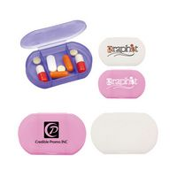 3 Compartments Plastic Mini Ellipse Pill Case
