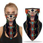 Seamless Triangle Face Mask Bandanas Ear Loops
