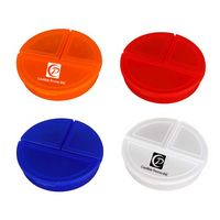Round Shape Pill Case Or Pill Box Or Pill Container Three Compartments