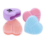 Beauty Soft Heart-shaped Silicone Scrubber Cosmetic Brush Cleaning Tools
