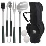 7pcs Golf-Club Style BBQ Grill Tool Set