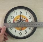 Black Wall Clock Silent Non Silent Non Ticking Quality Quartz Battery Operated Round Easy to Read