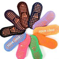 Trampoline Socks Unisex Non Slip Grip Socks For Hospital, Yoga, Trampoline, Barre & Home