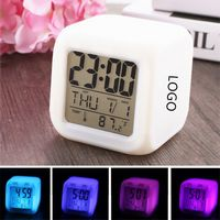 Colorful LED Alarm Clock