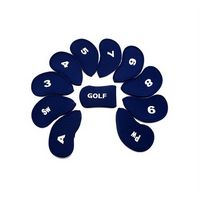 Golf Iron Head Covers Set of 10