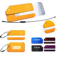 Colorful Aluminum Baggage Tag With Metal Screw-Locker Hook