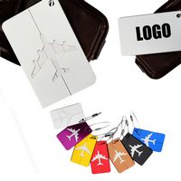 Colorful Aircraft Aluminum Luggage Tag With Screw-Locker