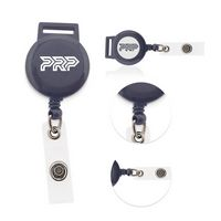 Retractable Coil Keyring W/Metal Belt Clip & Nylon Cord
