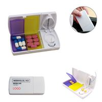 Pill Case Tablet Box With Cutter Splitter