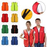 Custom 2 Pocket Uniform Volunteer Vest With Zipper