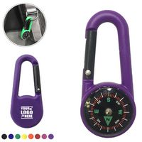 Plastic Carabiner Compass Key Chain