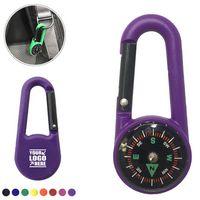 Plastic Carabiner Compass Key Chain
