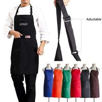 Adjustable Neck Strap Apron With Pockets